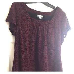 Cute square neck flutter sleeve tee